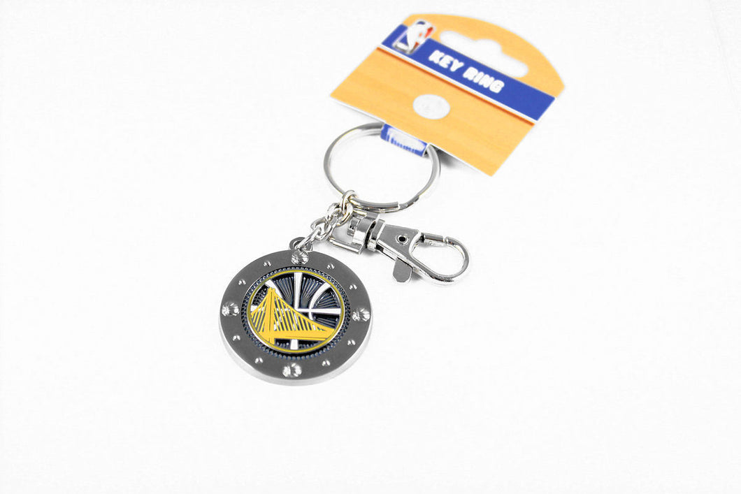 Golden State Warriors Key Ring with Charm & Clip