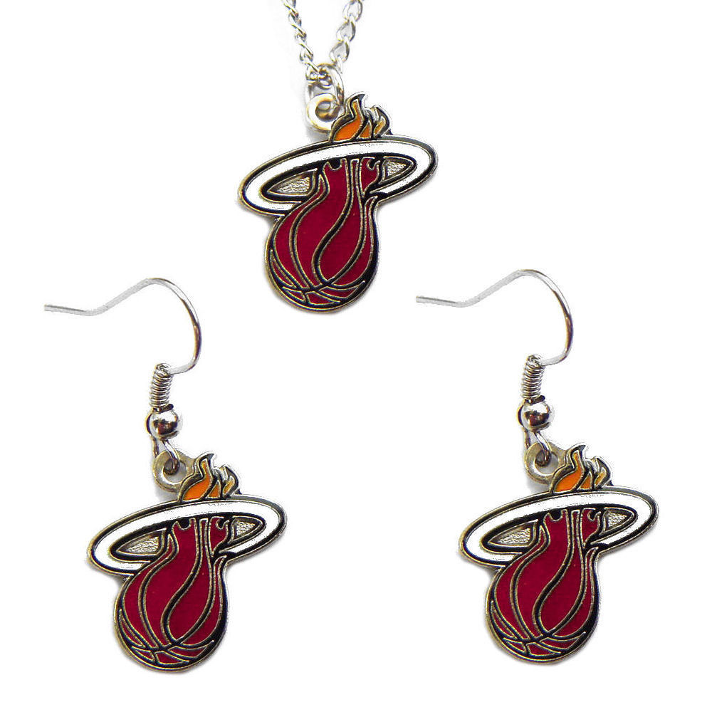Miami Heat Necklace & Earring Set