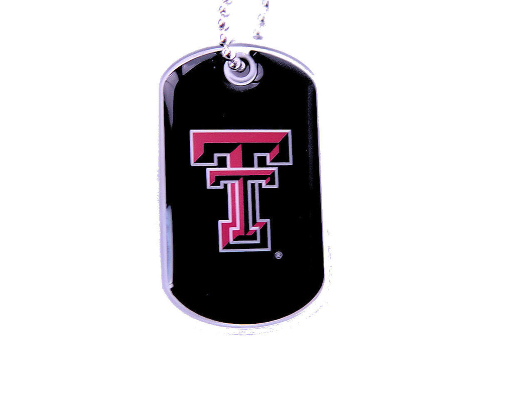 Texas Tech Red Raiders Dog Tag Necklace