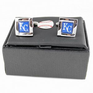 Kansas City Royals Cuff Links with Case