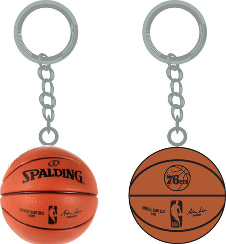 Philadelphia 76ers Key Chain with Miniature Basketball