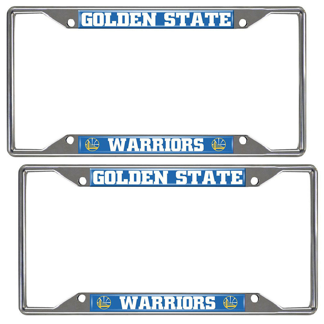 Golden State Warriors 2-Piece License Plate Frames