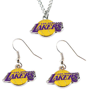Los Angeles Lakers Necklace & Earring Set