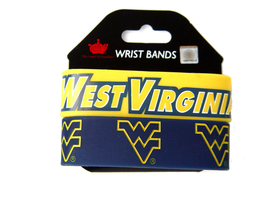 West Virginia Mountaineers Rubber Bracelets
