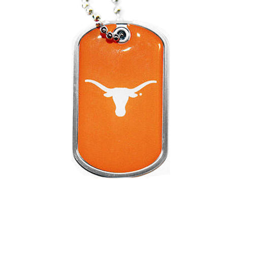 Texas Longhorns Dog Tag Necklace
