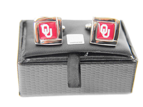 Oklahoma Sooners Cuff Links with Case