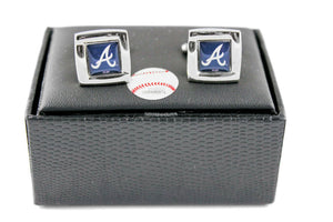 Atlanta Braves Cuff Links with Case
