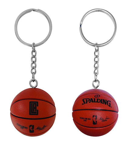 Los Angeles Clippers Key Chain with Miniature Basketball