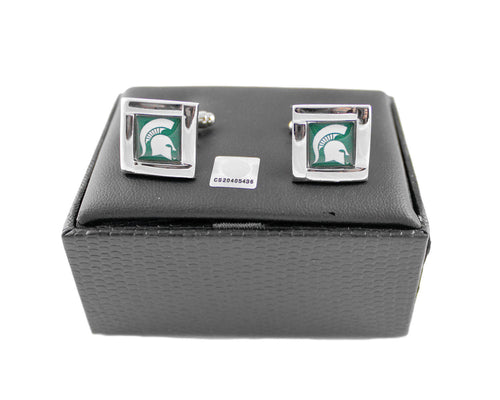 Michigan State Spartans Cuff Links with Case