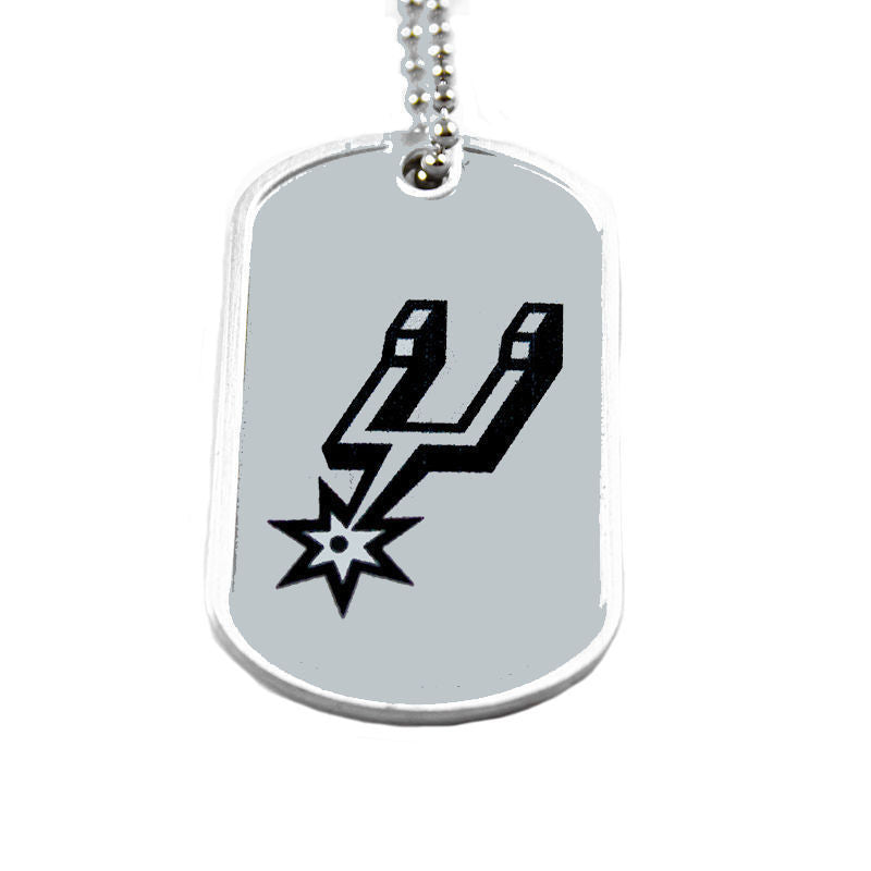 San Antonio Spurs Dog Tag Necklace