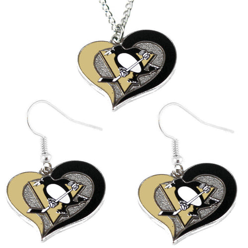 Pittsburgh Penguins Necklace & Earring Set