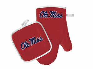 Ole Miss Rebels Oven Mitt & Pot Holder Set