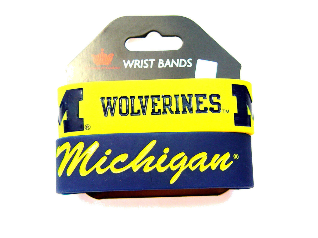 Michigan Wolverines Rubber Bracelets