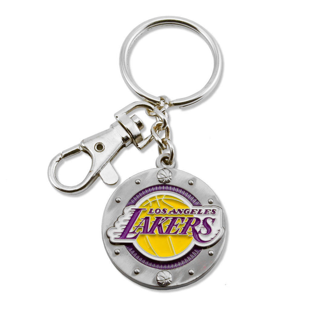 Los Angeles Lakers Key Ring with Charm & Clip