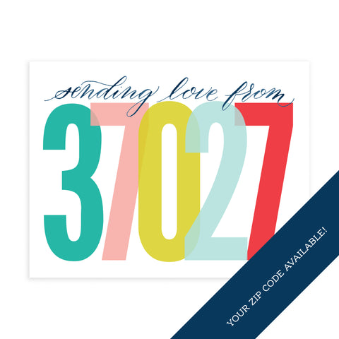 Zip Code (Custom) - Note Card Set
