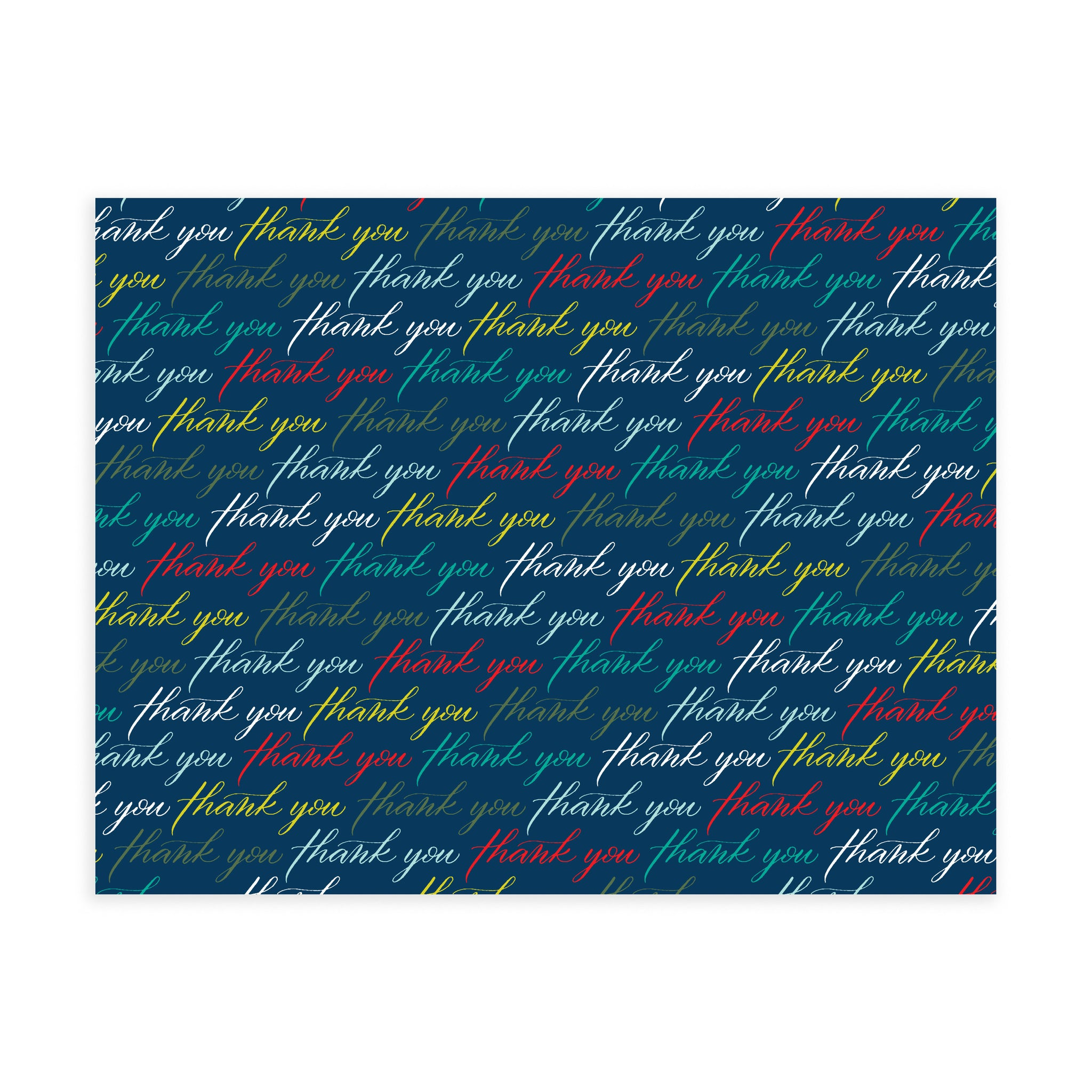 Thank You Pattern (Navy) - Note Card Set