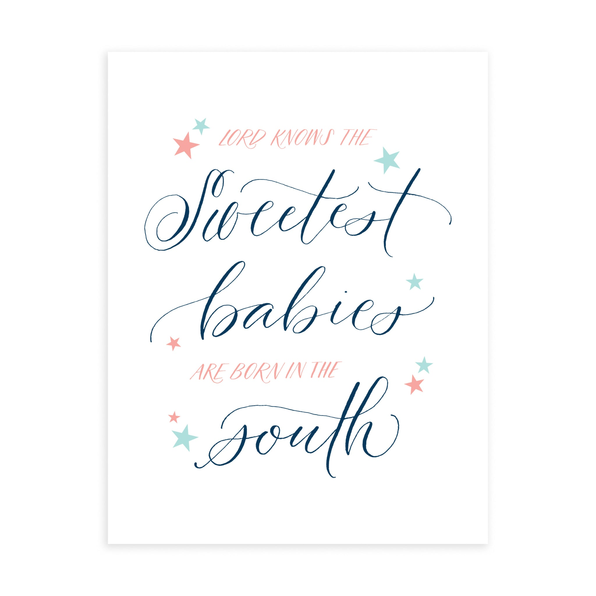 """Sweetest Babies"" - Greeting Card"