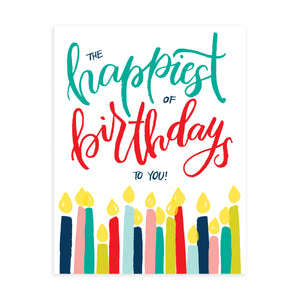 """Happiest of Birthdays"" - Greeting Card"