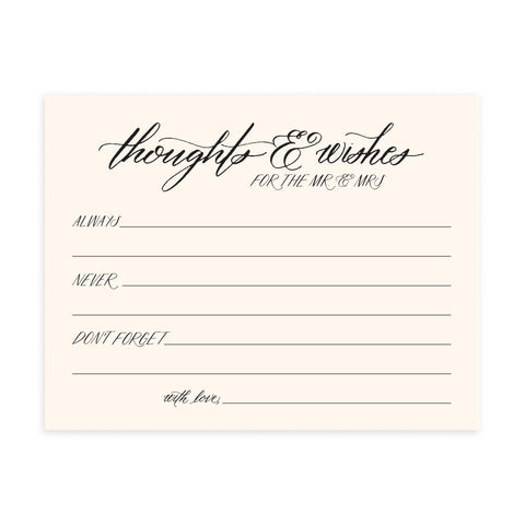 Thoughts & Wishes - Advice Card Set