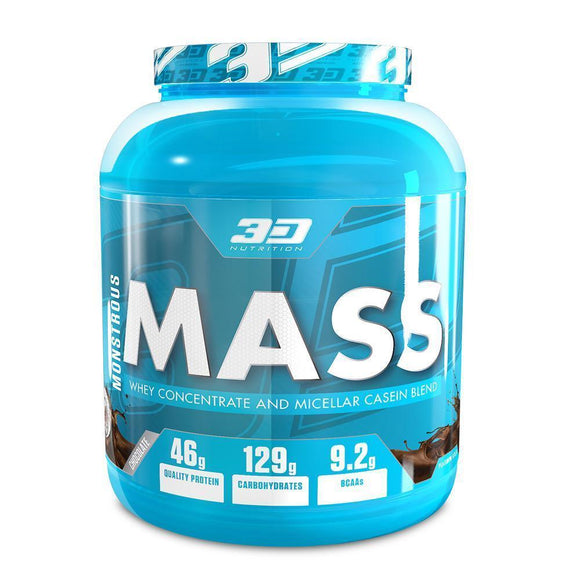 3d Nutrition Monstrous Mass 3kg Strawberry