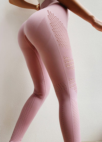 Women Eyelet Flawless Yoga Leggings