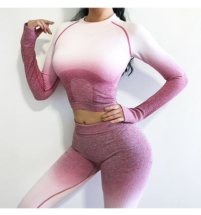 Long Sleeve Crop Yoga Set