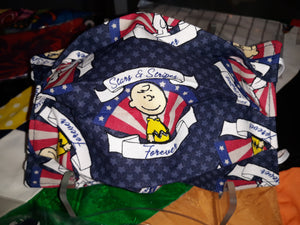 Charlie Brown/Snoopy Forever Stars and Strips Face Masks