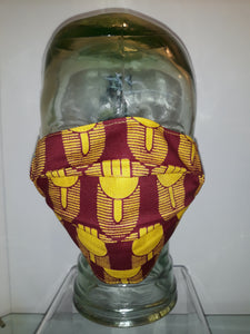 African Reversible Mask