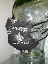 Load image into Gallery viewer, Authentic New Orleans Saints NFL cotton fabric / face mask