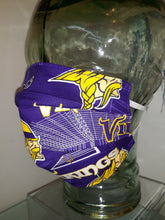 Load image into Gallery viewer, Minnesota Vikings Authentic NFL Cotton fabric - Reversible Mask