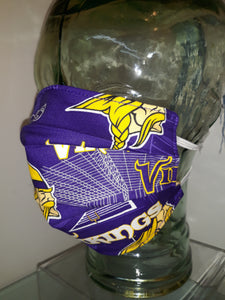 Minnesota Vikings Authentic NFL Cotton fabric - Reversible Mask