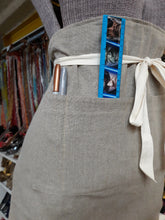 Load image into Gallery viewer, Neutral Color Heavy Weight Linen Apron/ waist-high /with ties and 4 pockets