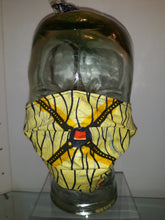 Load image into Gallery viewer, African Yellow/ Red/ Black Pleated Mask