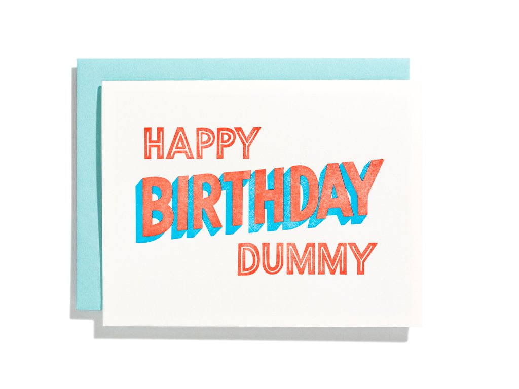 Birthday Card: Happy Birthday Dummy