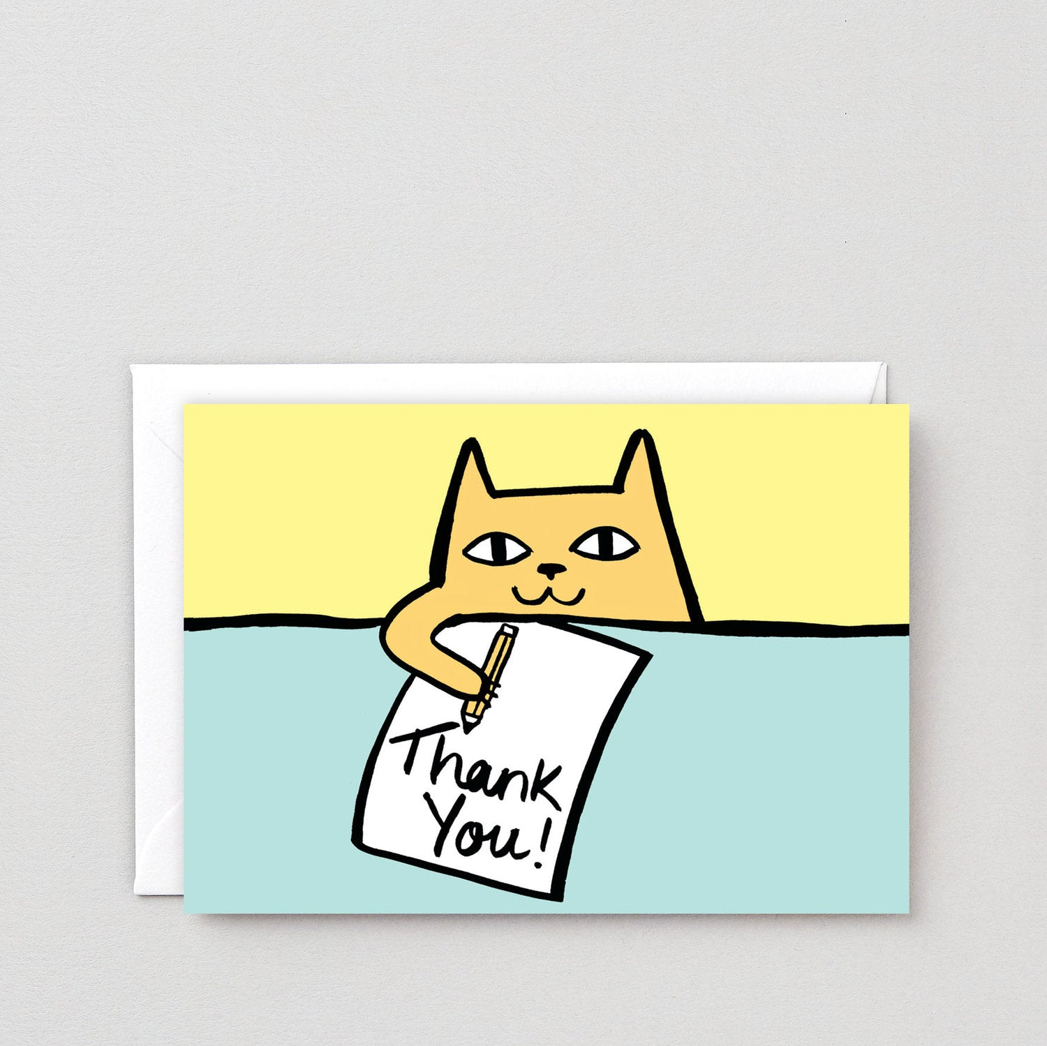 Greeting Card: Thank You Cat