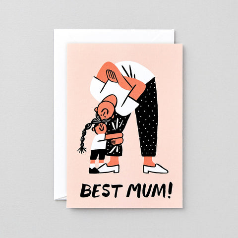 Greeting Card: Best Mum