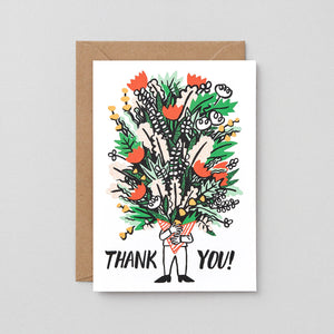 Thank You Card: Bouquet
