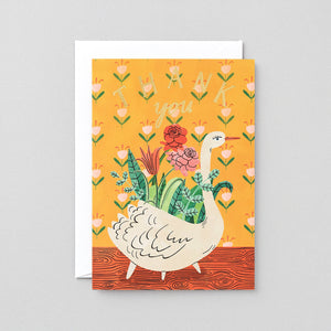 Thank You Card: Swan Planter