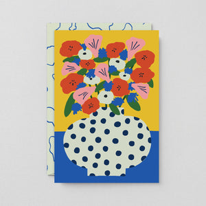 Greeting Card: Cheery Flowers