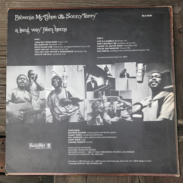 Brownie McGhee & Sonny Terry - A Long Way From Home (USED LP)