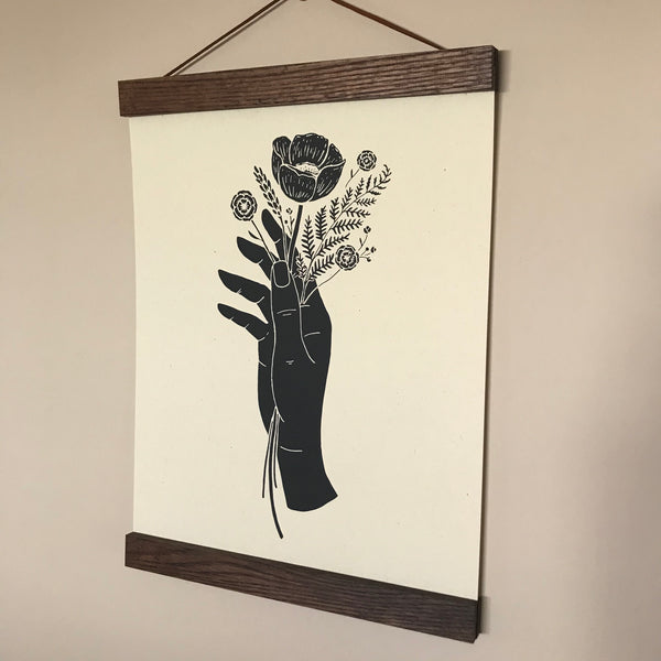 ART PRINT: Botanical Hand - by The Wild Wander