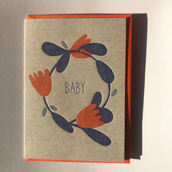 Baby Card: Flowers