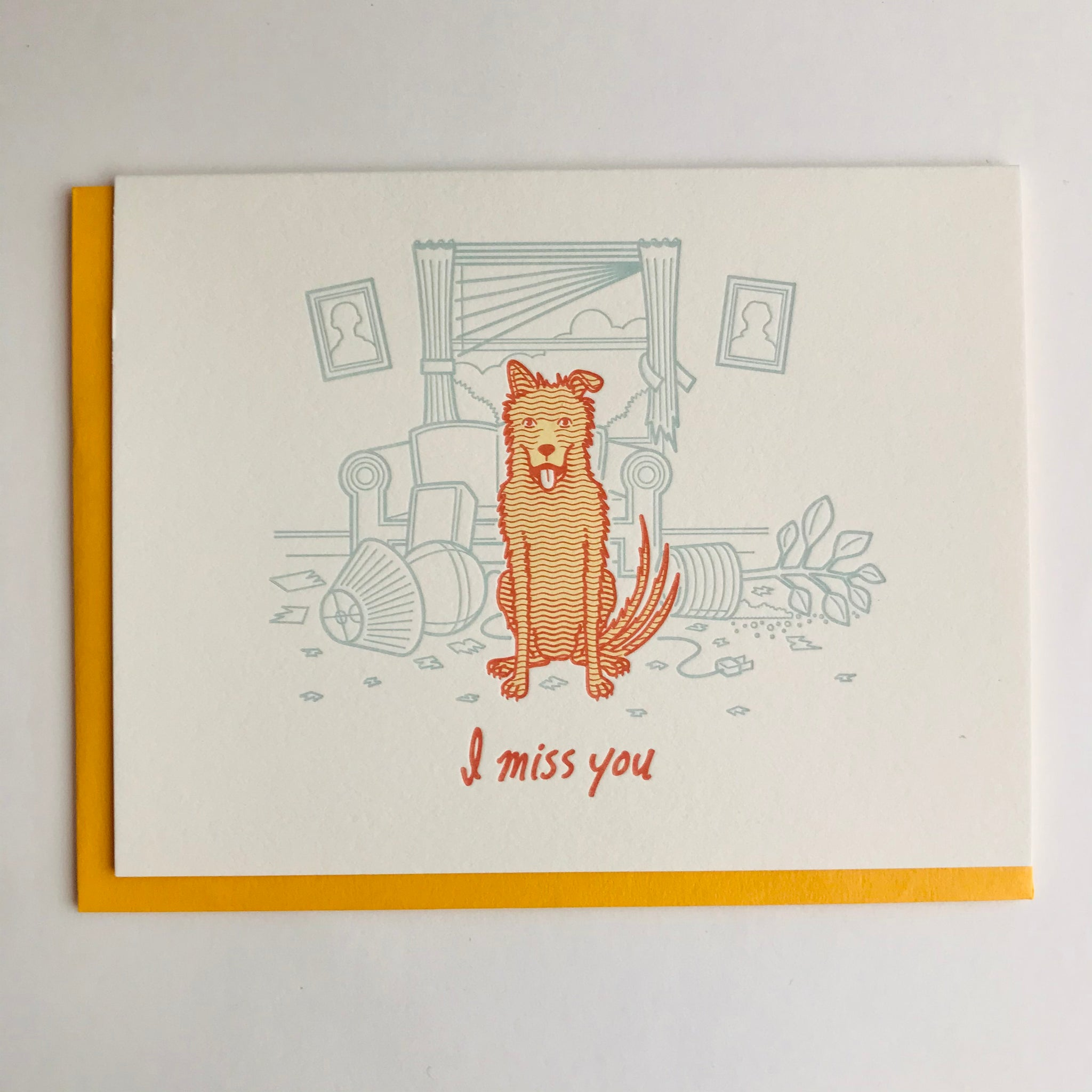 Greeting Card: I Miss You Dog
