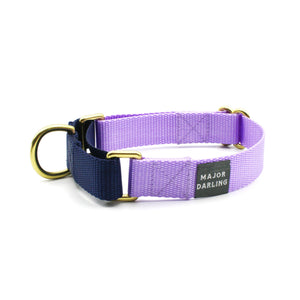 Martingale Collar - Lilac + Navy (SM)