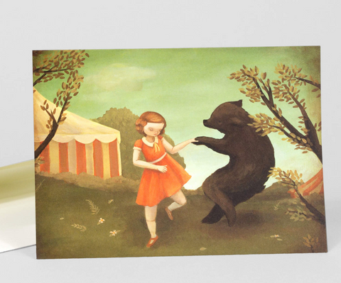 Greeting Card: Bear Dance
