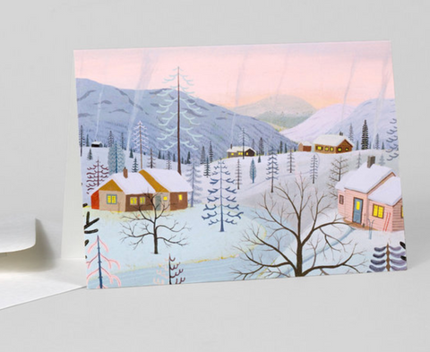 Greeting Card: Snowy Houses