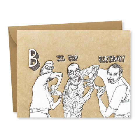 Greeting Card: B is for Birthday