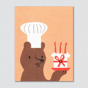 Greeting Card: Baker Bear
