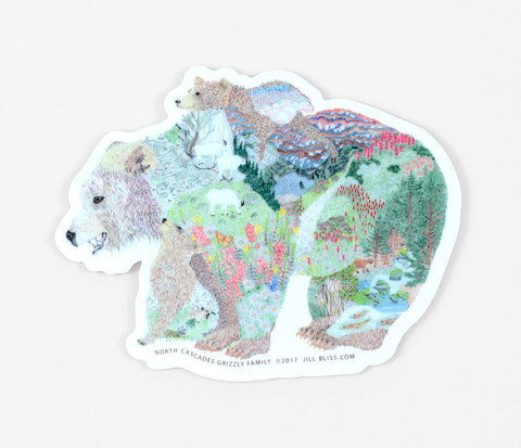 Sticker - Grizzly Bear