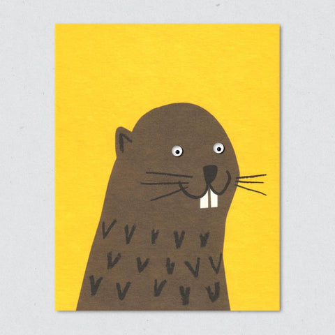 Greeting Card: Beaver